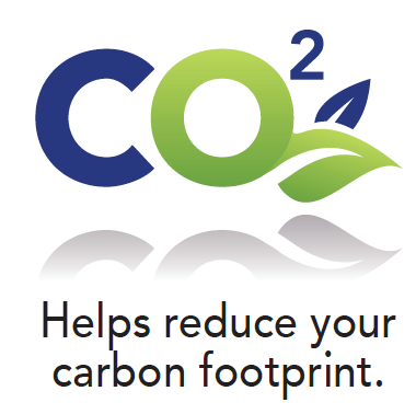Helps reduce your carbon footprint